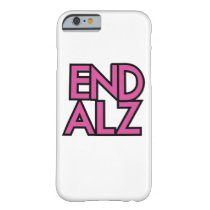 End Alz Alzheimer's Awareness Month Purple Gifts Barely There iPhone 6 Case