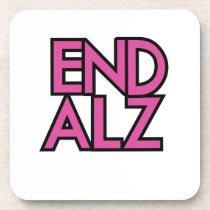 End Alz Alzheimer's Awareness Month Purple Gifts Beverage Coaster