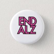 End Alz Alzheimer's Awareness Month Purple Gifts Button