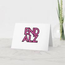 End Alz Alzheimer's Awareness Month Purple Gifts Card