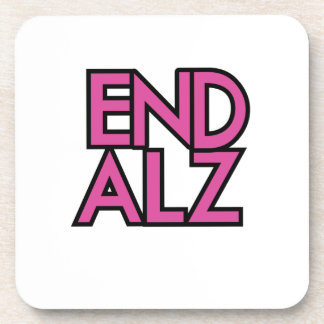 End Alz Alzheimer's Awareness Month Purple Gifts Coaster