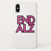 End Alz Alzheimer's Awareness Month Purple Gifts iPhone X Case