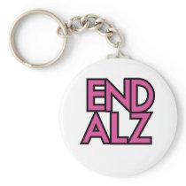 End Alz Alzheimer's Awareness Month Purple Gifts Keychain