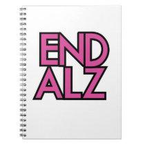 End Alz Alzheimer's Awareness Month Purple Gifts Notebook