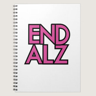 End Alz Alzheimer's Awareness Month Purple Gifts Notebook