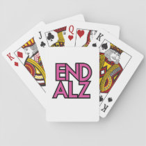 End Alz Alzheimer's Awareness Month Purple Gifts Playing Cards