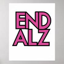 End Alz Alzheimer's Awareness Month Purple Gifts Poster