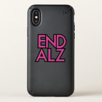 End Alz Alzheimer's Awareness Month Purple Gifts Speck iPhone X Case