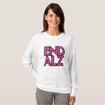 End Alz Alzheimer's Awareness Month Purple Gifts T-Shirt