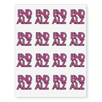 End Alz Alzheimer's Awareness Month Purple Gifts Temporary Tattoos