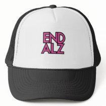 End Alz Alzheimer's Awareness Month Purple Gifts Trucker Hat
