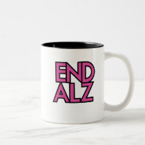 End Alz Alzheimer's Awareness Month Purple Gifts Two-Tone Coffee Mug