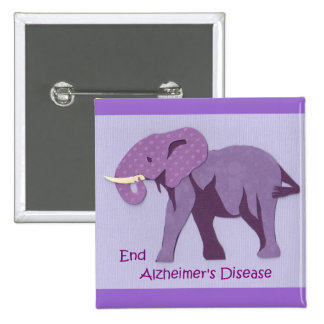 End Alzheimers 2 Inch Square Button