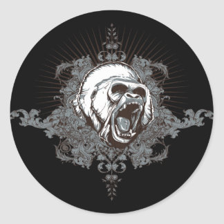 End Anger Classic Round Sticker