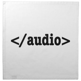 End Audio HTML5 Code Napkins
