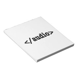 End Audio HTML5 Code Notepad