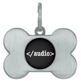 End Audio HTML5 Code Pet Tag