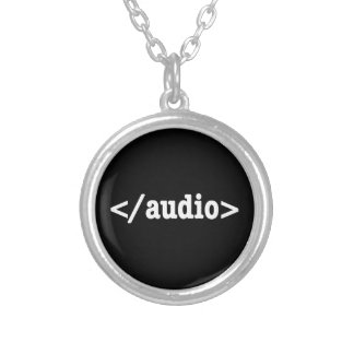End Audio HTML5 Code Silver Plated Necklace