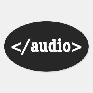 End Audio HTML5 Code Sticker