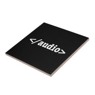 End Audio HTML5 Code Tile