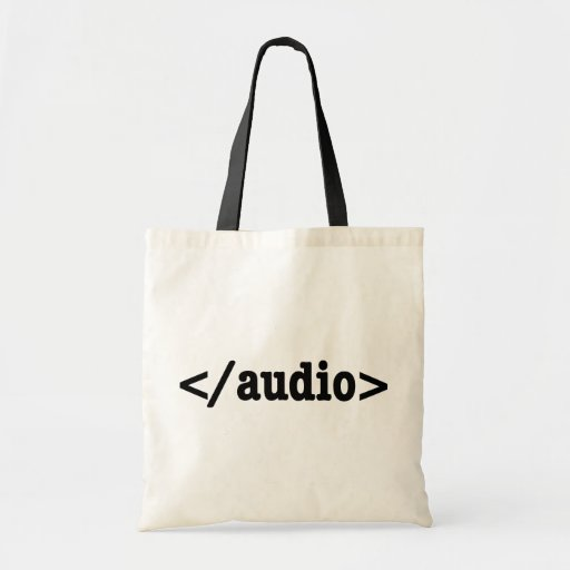 End Audio HTML5 Code Tote Bags