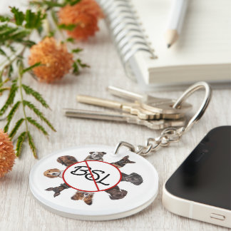 End BSL Double-Sided Round Acrylic Keychain