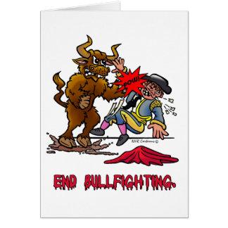 END BULLFIGHTING GREETING CARD