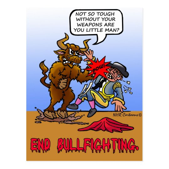 END BULLFIGHTING POSTCARD