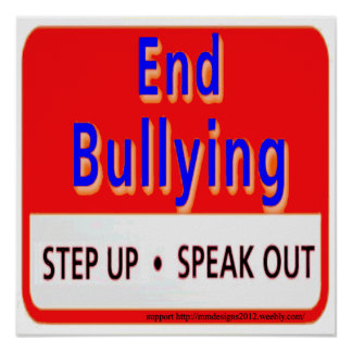 end bullying poster