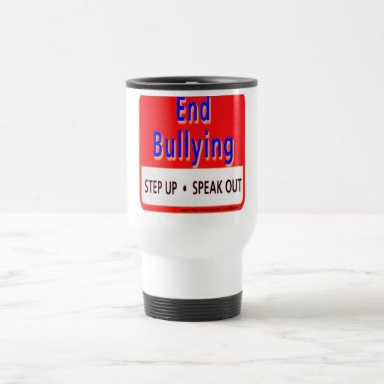 end bullying travel mug