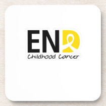 End Childhood Cancer Beverage Coaster