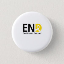 End Childhood Cancer Button