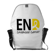 End Childhood Cancer Courier Bag