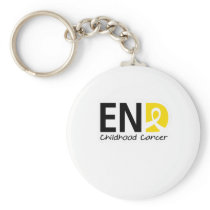 End Childhood Cancer Keychain