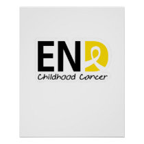 End Childhood Cancer Poster