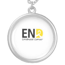 End Childhood Cancer Silver Plated Necklace