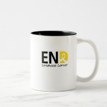 End Childhood Cancer Two-Tone Coffee Mug