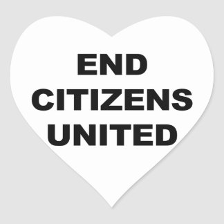 End Citizens United Heart Sticker