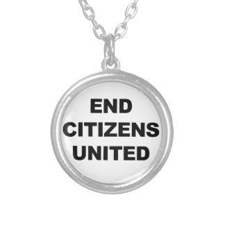 End Citizens United Silver Plated Necklace
