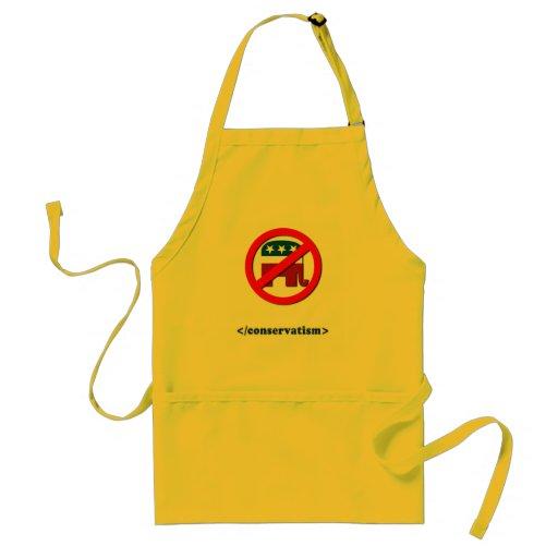 End conservatism 2 adult apron