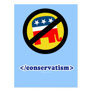 End conservatism postcard