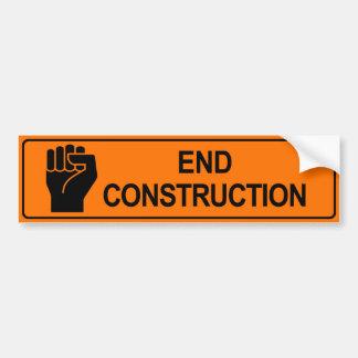End Construction Bumper Sticker