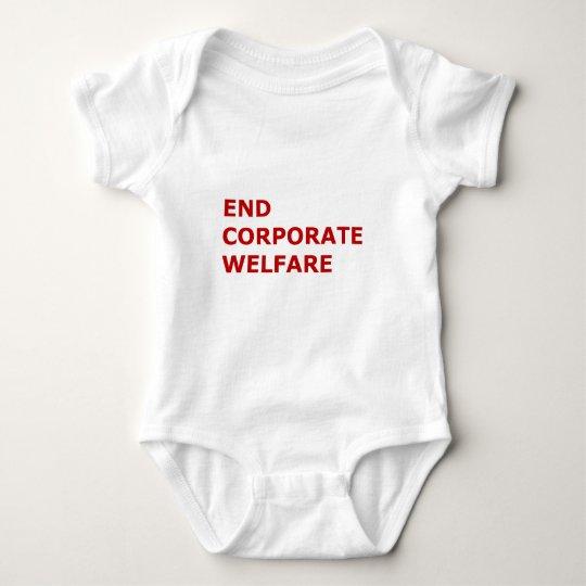 End corporate welfare baby bodysuit