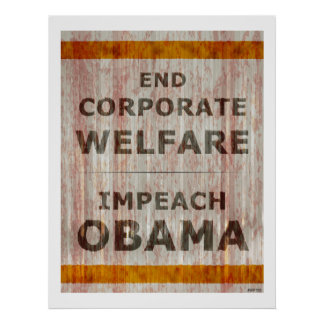 End Corporate Welfare Poster