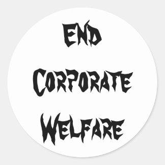 End Corporate Welfare Sticker