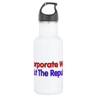 END CORPORATE WELFARE WATER BOTTLE