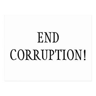 END CORRUPTION! POSTCARDS