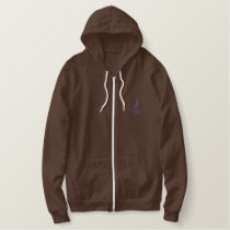 End Domestic Violence Embroidered Hoodie