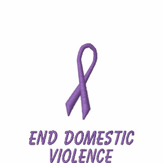 End Domestic Violence Embroidered Hooded Sweatshirt