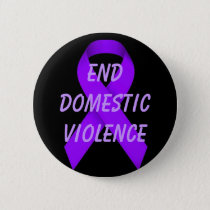 End domestic violence pinback button